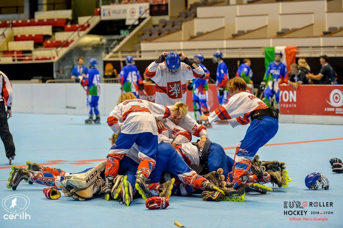 Česká juniorská reprezentace inline hokej foto Marco Guariglia