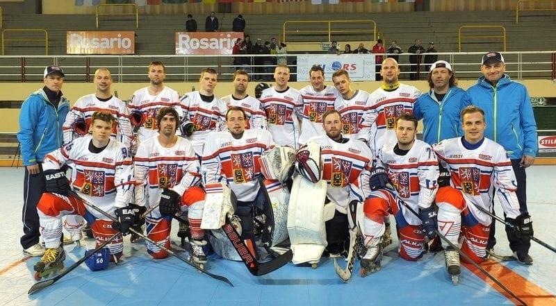 Česká reprezentace muži Itálie Rosario inline hockey foto profil fb